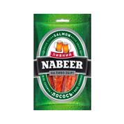 Лосось Пивний Nabeer 100г солено сушений соломка
