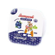 Паста сиркова Яготинське д.дітей 100г 4.2% чорниця ст