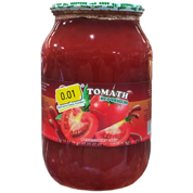 Томати 0.01 1л неочіщені в томатному соку