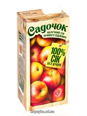 Сік Садочок 0.95л прямого віджиму яблуко
