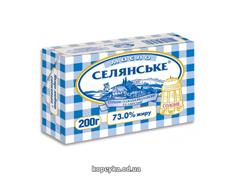 Масло Селянське 200г 73% солодковершкове солоне