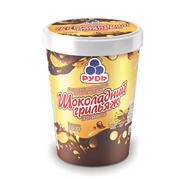 Морозиво Рудь 500г шоколадний грильяж відро