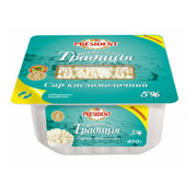 Сир кисломолочний Президент 450г 5% творожна традиція пл.