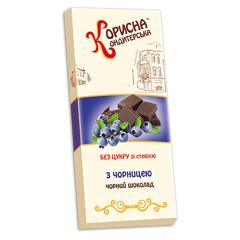 Шоколадна плитка Стевіясан 100г чорниця