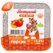 Паста сиркова Яготинське д.дітей 100г 4.2% персик ст