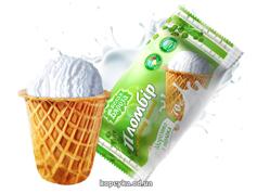 Морозиво Белая бяроза 70г пломбір вафельний цукровий ст