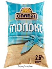 Молоко Славія 0.9л 2.6% п.е