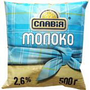 Молоко Славiя 450мл 2,6% п.е