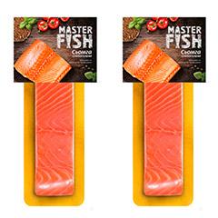Філе шмат семги Master Fish 130г с.с на шкурі