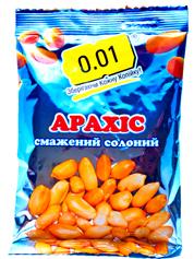 Арахіс 0.01 200г смажений солоний