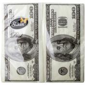 Серветка Silken Дует Money-money 33х33 3шар 20шт у пачці