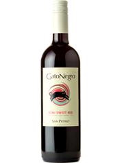 Вино Гато Негро 0.75л сан педро червоне н.солодке