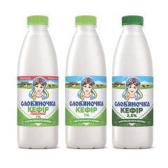 Кефір Слов`яночка 870л 1% лагiдний п.е пляшка