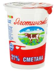 Сметана Яготинське 0.35л 21% ст