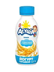 Йогурт Агуша 200мл 2.7% злаки