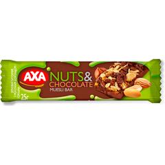 Батончик АХА 25г зерновий молочний шоколад горiх