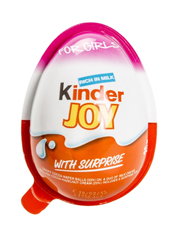 Шоколадне яйце Кiндер джой д.дiвчат
