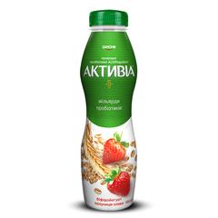 Йогурт Активiа 580 г.1.5% полуниця злаки п.е