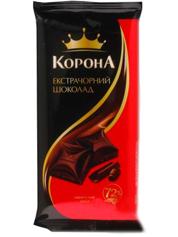 Шоколад Корона 90г екстра чорний