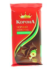 Шоколад Корона 90г чорний горіх