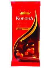 Шоколад Корона 90г чорний цілий горіх