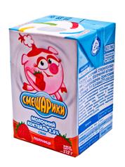 Молочний коктейль Смешаріки 212г 2.5% полуниця KR