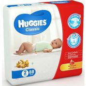 Підгузники Хаггіс класік (2) 3-6кг 88*2