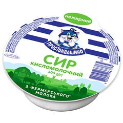 Сир к.молочний Простоквашино 305г нежирний обрам