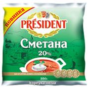 Сметана Президент 350г 20% п.е