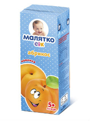 Сік Малятко 200мл абрикос м`якоть тетрапак