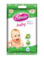 Серветки вологi Smile baby 24шт для немовлят