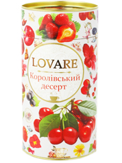 Чай Lovare 80г королівський десерт квітковий плодово ягідній тубус