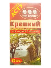 Чай Три Слона 20п міцний цейлонський чорний дрібний б.нитки