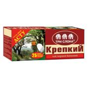 Чай Три Слона 25п міцний цейлонський чорний дрібний ярлик