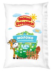 Молоко Весела бурьонка 900г 2.6%