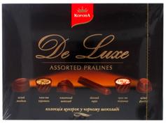 Цукерки Корона 146г де люкс чорний шоколад