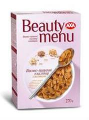 Пластівці Аха 270г beauty menu вівсяно-пшеничні з висівками