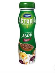 Йогурт Активія 290г 1.5% слива насiння льону пет
