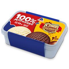 Морозиво Рудь 500г 100% плюс супершоколад