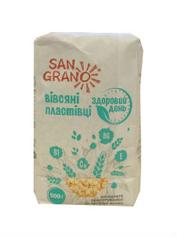 Пластівці San Grano 500г здоровий день з нас.льону
