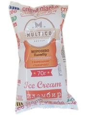 Морозиво Multico 70г пломбір ваніль вафельний ст.
