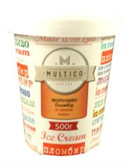 Морозиво Multico 500г пломбір ваніль карт.ст.