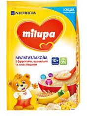 Каша Milupa 210г мультизлак фрукти пластівці та кульки 10м.