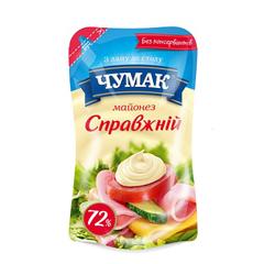 Майонез Чумак 180г справжній д.п