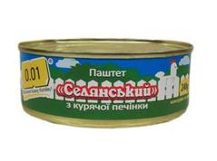 Паштет 0.01 240г печiка куряча селянський