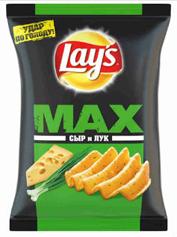 Чiпси Лейз 120г MAXX смак сир цибуля
