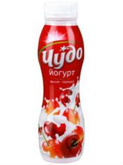 Йогурт Чудо 270г 2,5 вишня черешня п.б