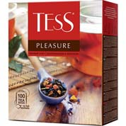 Чай Tess 100п pleasure чорний
