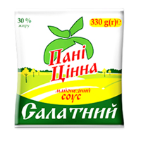 Соус майонезний Панi Цiнна 330г салатний 30%