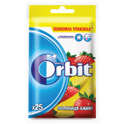 Жувальна гумка Orbit 35г bags strawberry-banana